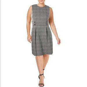 Anne Klein Houndstooth Check Fit&Flare Dress 16